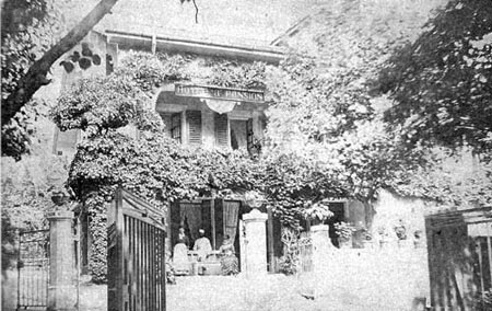 La pension Bellevue à Mornex, où eurent lieu les premiers cultes.