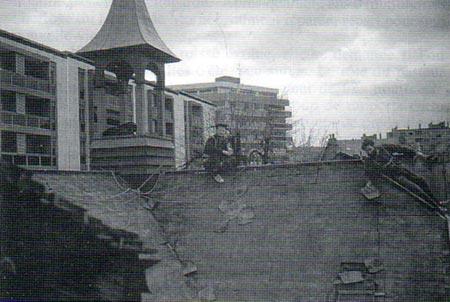 Réfection du Temple en 1976.